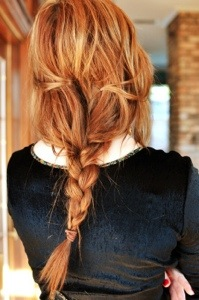 Golden Red head with Sexy low Braid