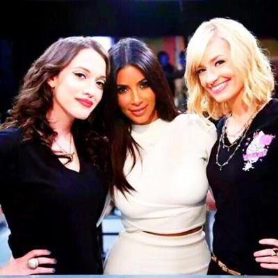 Beth-Behrs-Kim-Kardashian-Kat-Denning